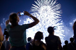 Fireworks Light Up Skies Over New York City On The Fourth Of July