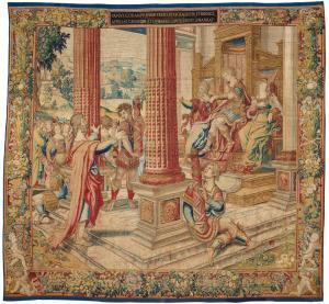 Pieter Coecke van Aelst Paulus van Oppenem The Apostle Paul before King Agrippa Tapestry from the series Scenes from the Life of the Apostle Paul ca 1535 KHM Vienna