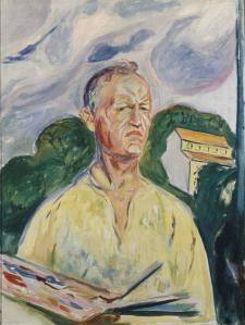 Edvard Munch Self-Portrait with Palette 1926 private collection