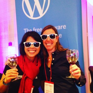 Marjorie and Andrea at Wine Tourism Conf Expo